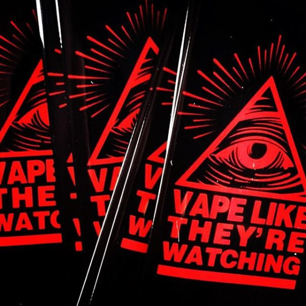 Vape Like They're Watching 18650 Battery wraps 5 pack